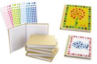 """Carnets """"Mes premières mosaïques"""" - Kit de 6 réalisations - Carnets et blocs-notes en carton - 10doigts.fr"""