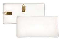 Plaque rectangulaire en terre cuite blanche - Supports en Céramique et Porcelaine - 10doigts.fr