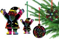 Cartes à gratter thème Noël + accessoires - 8 formes - Cartes à gratter - 10doigts.fr