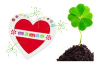 Cartes coeur à planter dans la terre - Lot de 6 - Cartes et poèmes de fêtes - 10doigts.fr