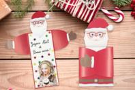 """Cartes de vœux Père-Noël """"câlin"""" - Lot de 6 - Cartes de vœux - 10doigts.fr"""