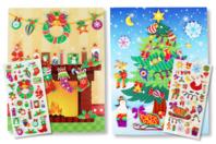 Cartes de Noël à personnaliser avec des stickers - Gommettes et stickers Noël - 10doigts.fr