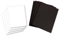 Papier cartonné noir ou blanc - 10 feuilles - Plaques et panneaux - 10doigts.fr