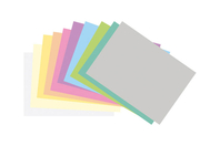 Cartes A4 couleurs pastels - Set de feuilles assortis - Carte légère ou forte - 10doigts.fr