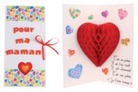 Carte Pop-up Coeur 3D - Cartes et poèmes de fêtes - 10doigts.fr