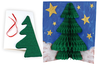 Carte Sapin Pop-up 3D - Carterie - 10doigts.fr