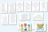 Cartes à décorer pour flocons de maïs - set de 12 - Flocons de maïs - 10doigts.fr
