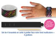Bracelets en carte à gratter + grattoirs - 4 pcs - Carte à gratter - 10doigts.fr