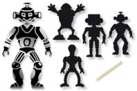 Cartes à gratter thème Robot + accessoires - 12 formes - Cartes à gratter - 10doigts.fr