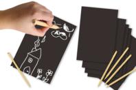 Cartes à gratter vierges + grattoirs - 5 cartes - Cartes à gratter - 10doigts.fr