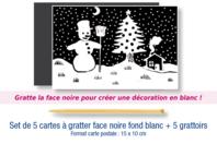 Cartes à gratter vierges + grattoirs - Lot de 5 - Cartes à gratter - 10doigts.fr