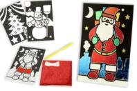 Cartes de Noël à métalliser - 3 motifs assortis - Cartes de vœux - 10doigts.fr