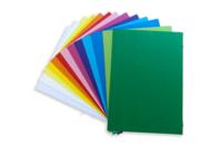 Cartes A6 couleurs assorties - 120 cartes - Papiers à motifs - 10doigts.fr