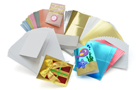 Assortiment géant de 100 cartes + 100 enveloppes - Carterie - 10doigts.fr