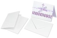 Cartes et enveloppes en papier blanc nacré - Carterie - 10doigts.fr
