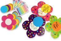 Carte mobile Fleur à fabriquer - Cartes et poèmes de fêtes - 10doigts.fr