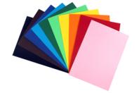Feuilles colorées 220 gr/m² - 10 couleurs assorties - Papiers Unis - 10doigts.fr