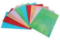 Papier épais couleurs holographiques - 10 feuilles Format A4 - Papiers à effets - 10doigts.fr