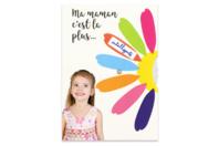 Cartes marguerite à message - 6 Cartes - Kits activités carteries - 10doigts.fr