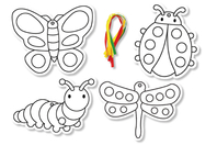 Insectes carte à sabler - Set de 8 - Sables colorés - 10doigts.fr