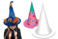 Chapeau de magicien, de sorcier ou de princesse - Lot de 10 - Mardi gras, carnaval - 10doigts.fr