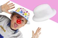 Chapeaux blancs à décorer - Lot de 6 - Mardi gras, carnaval - 10doigts.fr