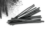Bâtonnets de charbon de bois de saule - Set de 12 - Pastels et Fusains - 10doigts.fr