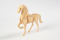 Kit cheval 3D - Maquettes en bois - 10doigts.fr
