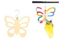 Cintre papillon pour foulards en bois - Porte-manteaux et patères - 10doigts.fr