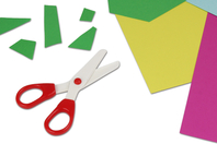 Ciseaux de sécurité pour enfants (lames en plastique) - Ciseaux, ciseaux cranteurs - 10doigts.fr