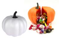 Grande citrouille en polystyrène (2 parties emboitables à coller) - Halloween - 10doigts.fr