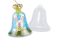 Cloche en plastique transparent à suspendre - Formes à garnir - 10doigts.fr