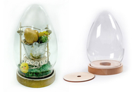 Oeuf cloche - 19,5 cm - Plastique Transparent - 10doigts.fr