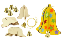 Cloches en bois à monter - Lot de 6 - Kits activités Pâques - 10doigts.fr