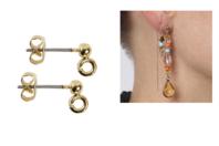 Clous dorés pour bijoux d'oreilles - 10 pièces - Boucles et pendentifs d'oreilles - 10doigts.fr