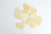 Coeur en bois naturel - Lot de 10 - Motifs brut - 10doigts.fr