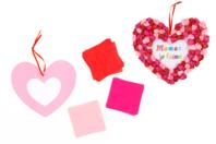 Suspension coeur en papier de soie - Kits créatifs prêt à l'emploi - 10doigts.fr