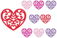 Stickers cœurs en feutrine - Formes en Feutrine Autocollante - 10doigts.fr