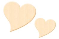 Coeur fantaisie en bois naturel - Taille au choix - Motifs brut - 10doigts.fr