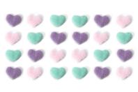 Stickers cœurs en fourrure couleurs pastel - Coeurs - 10doigts.fr