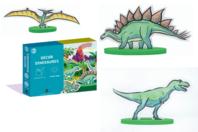 Coffret Dinosaures - Construction et Plastique magique - Feuilles plastique magique - 10doigts.fr