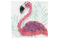 Coffret String art Flamant rose - String Art - 10doigts.fr