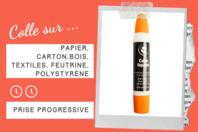 Colle forte avec double applicateur - Sans Solvants - Colles scolaires - 10doigts.fr