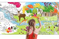 Fresque géante à colorier - La forêt - Support pré-dessiné - 10doigts.fr