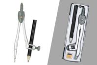Compas en acier + crayon - Outils de dessin - 10doigts.fr