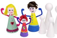 Cônes en polystyrène pour fabriquer des personnages - Formes à décorer - 10doigts.fr