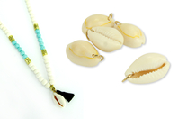Coquillages avec anneaux - 8 coquillages - Bijoux Indiens Navajos - 10doigts.fr