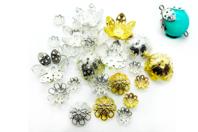 Décors pour perles or et argent - 24 décors - Perles intercalaires & charm's - 10doigts.fr