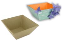 Corbeille vide-poches en carton papier mâché - Paniers, plateaux en carton - 10doigts.fr