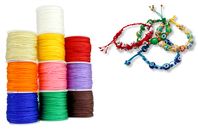 Cordons polyester queue de rat - 10 bobines de 50 m - Fils en Satin et queue de rat - 10doigts.fr